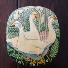 Paper Mache' Box from India with Geese and Calla Lilies