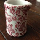 Vintage Art Deco Tepco China USA Pottery Restaurant Ware Creamer with Red Leaves