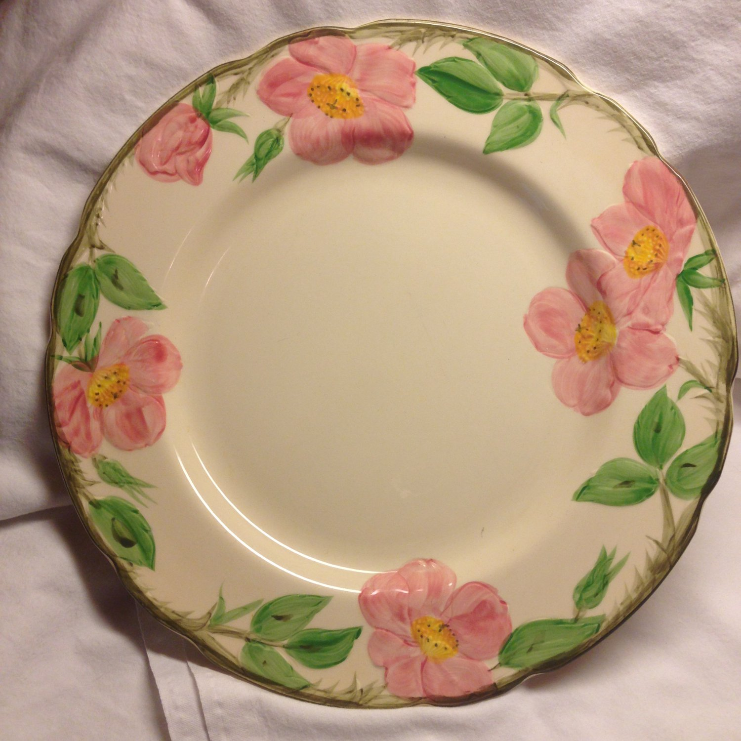 "Vintage FRANCISCAN Earthenware Desert Rose 10.5"" Plate"