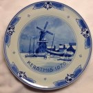 Limited Edition 1970 De Porceleyne Fles Royal Delft Holland Kerstmis Christmas Wall Plate