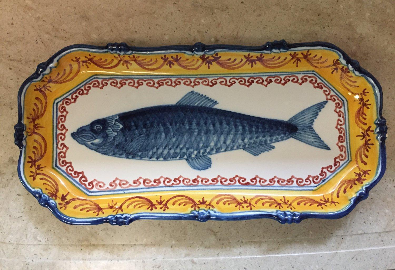 Vintage Royal Tichelaar Makkum Polychrome Herring Plate