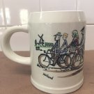 Goedewaagen Gouda Mug People on Bicycles signed V Gool