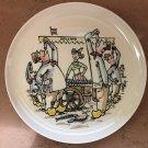Goedewaagen Gouda Round Plate Herring Eaters signed V Gool