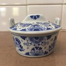 1970 De Porceleyne Fles Royal Delft Blue White Butter Tub Dish