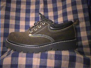REDUCED Arizona jeans 6.5 Black Suede Hikers Boots Shoes Womans 6.5 Brand New