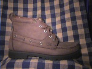 JJ Hobbs Youth 5 Brown Leather Hikers, Boots, Shoes Womans 6.5 Brand New