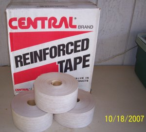 "Central Reinforced Shipping Packing Tape 3"" x 450' White (BEIGE) 3 Rolls 250 Grade"