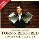 Torn and Restored Newspaper Illusion