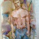 Original art,gay art interest,sexy boys in love,male model boys head,sexy man 2