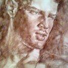Gay art interest, sexy model boy face portrait, male body beautiful,armpits  man torso