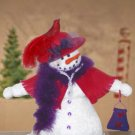 Hi Society snowman pattern  Doll with RED HAT # 1004