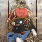 #590 Pumpkin head scarecrow pattern by Bonnie B Buttons