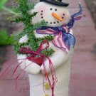 "# 1122 19"" Snowman doll pattern by Bonnie B Buttons"