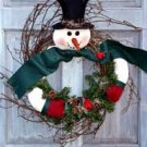 Pattern #2400 Snowman wreath  by Bonnie B Buttons