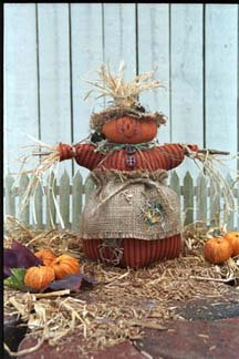"""#7097 11"""" Scarecrow doll pattern by Bonnie B Buttons"""