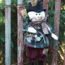 """18"""" Hanging Snowman pattern #175 by Bonnie B Buttons"""