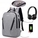 Double Shoulder Outdoor Travel Schoolbag Computer Knapsack USB Charging  Waterproof Anti-theft