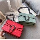 Fashion Letter Embossed Small Square Ladies Shoulder Bag