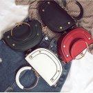 Ring Handbag Fashion Rivet Saddle Same Shoulder Skew Bag Tide