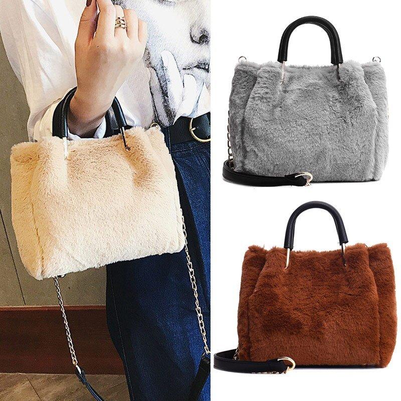 Women Cute Plush Shoulder Bag