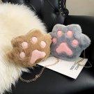 Plush bear Paw Cat Claw Shoulder Messenger Bag