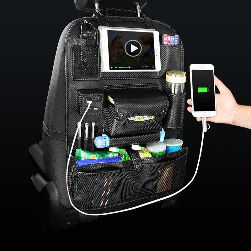 Car Backrest Storage Seat Bag Multifunctional