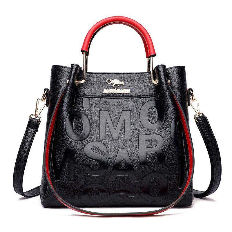 Western Style Soft Leather Embossed Shoulder Bag