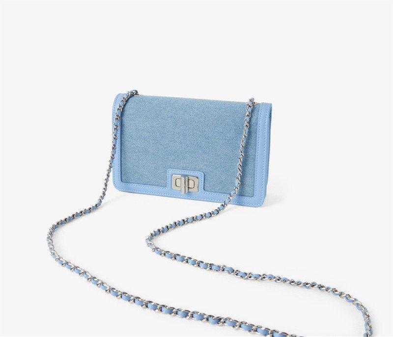 Ladies Stitching Chain Flap Shoulder Bag