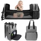 Baby Diaper Backpack Foldable Multifunction Travel With Changing Pad For Sleeping