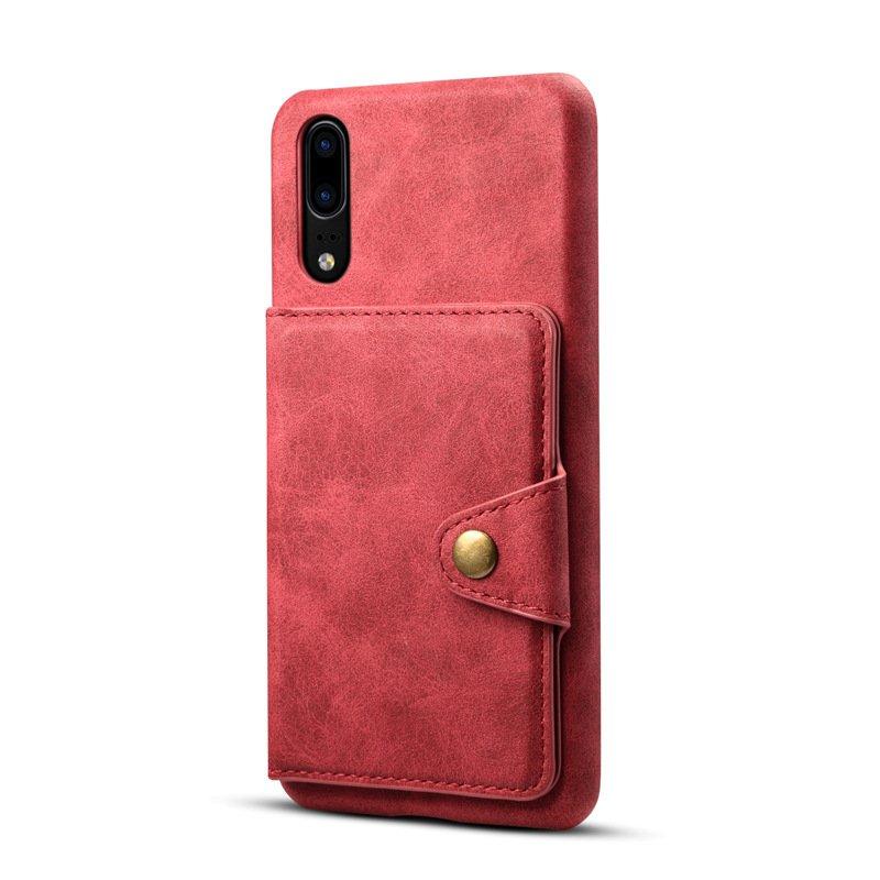 Simple Imitation Cowhide Pattern Magnetic Buckle Flip Iphone 7plus / 8plus Back Cover