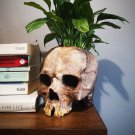 Halloween Skull Resin Flower Pot Outdoor Study