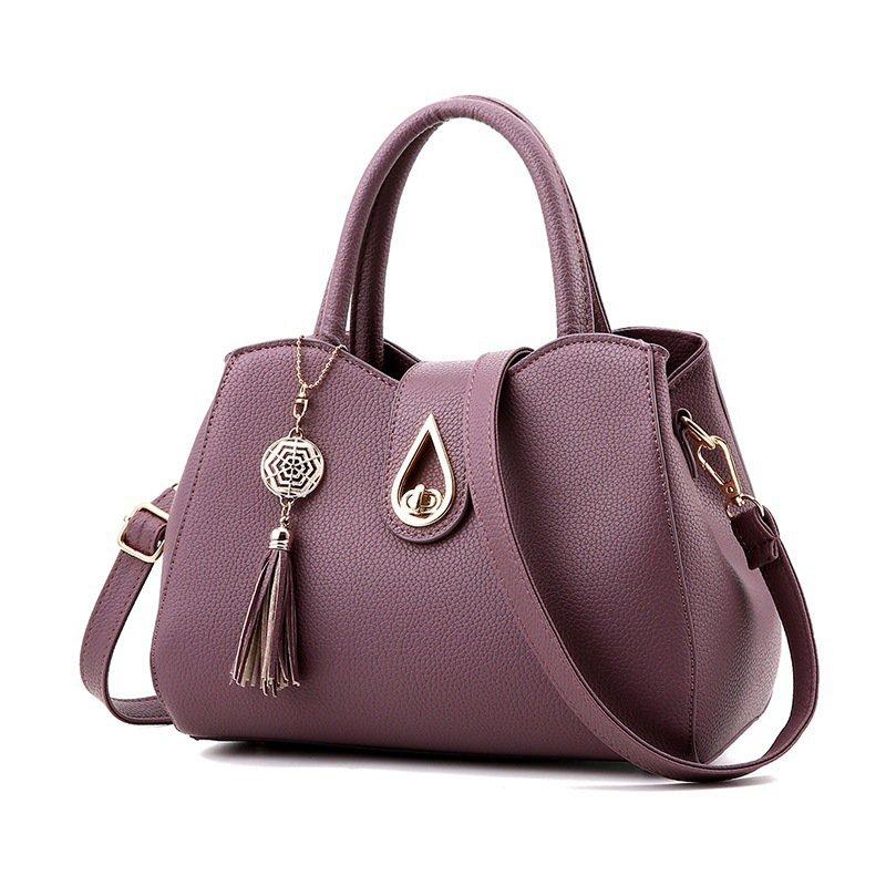 Ladies Tassel High Quality PU Leather Totes Handbag