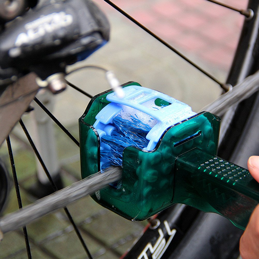 Bicycle Chain Cleaner Scrubber Brush Set
