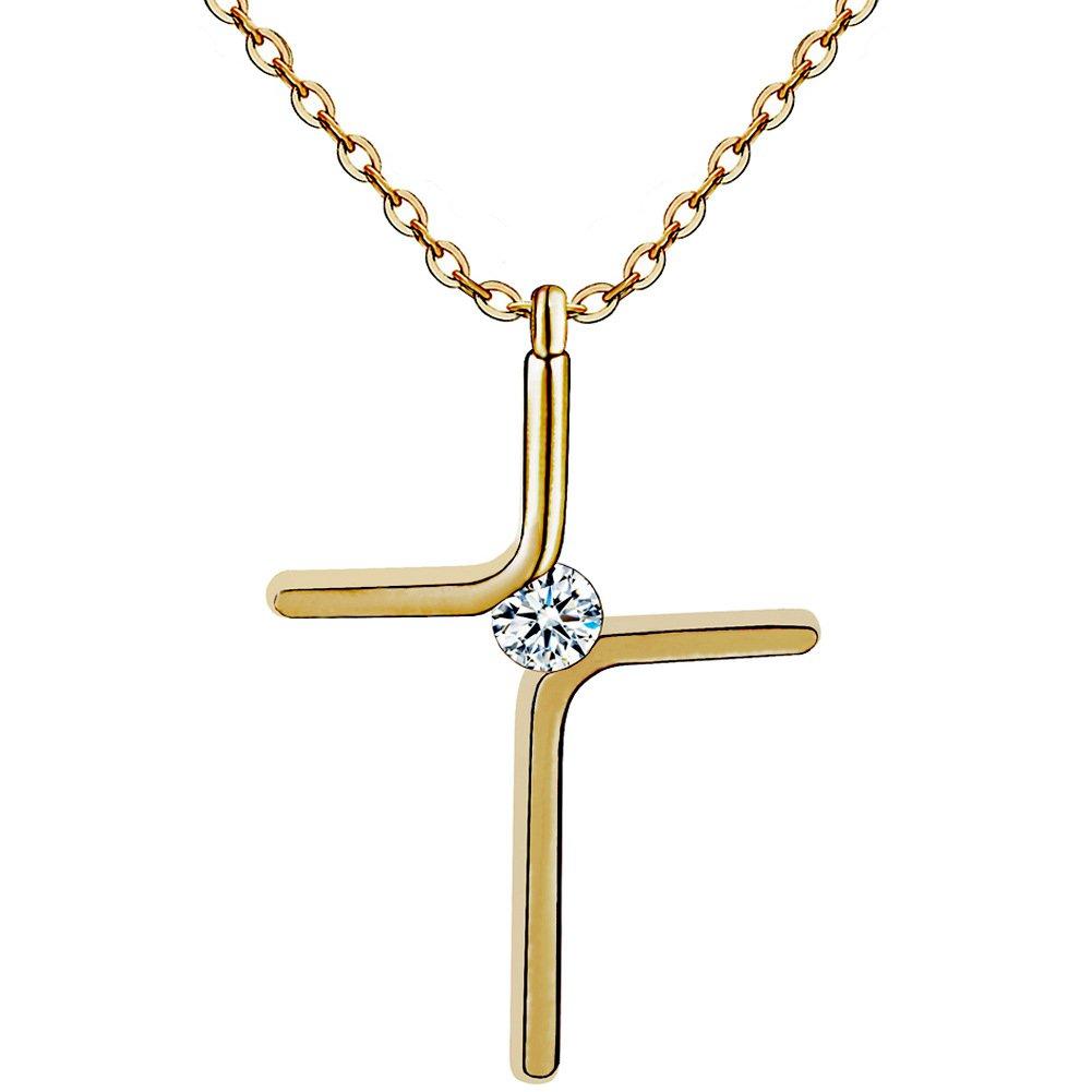 Cross Pendant Necklace Titanium Steel Plating