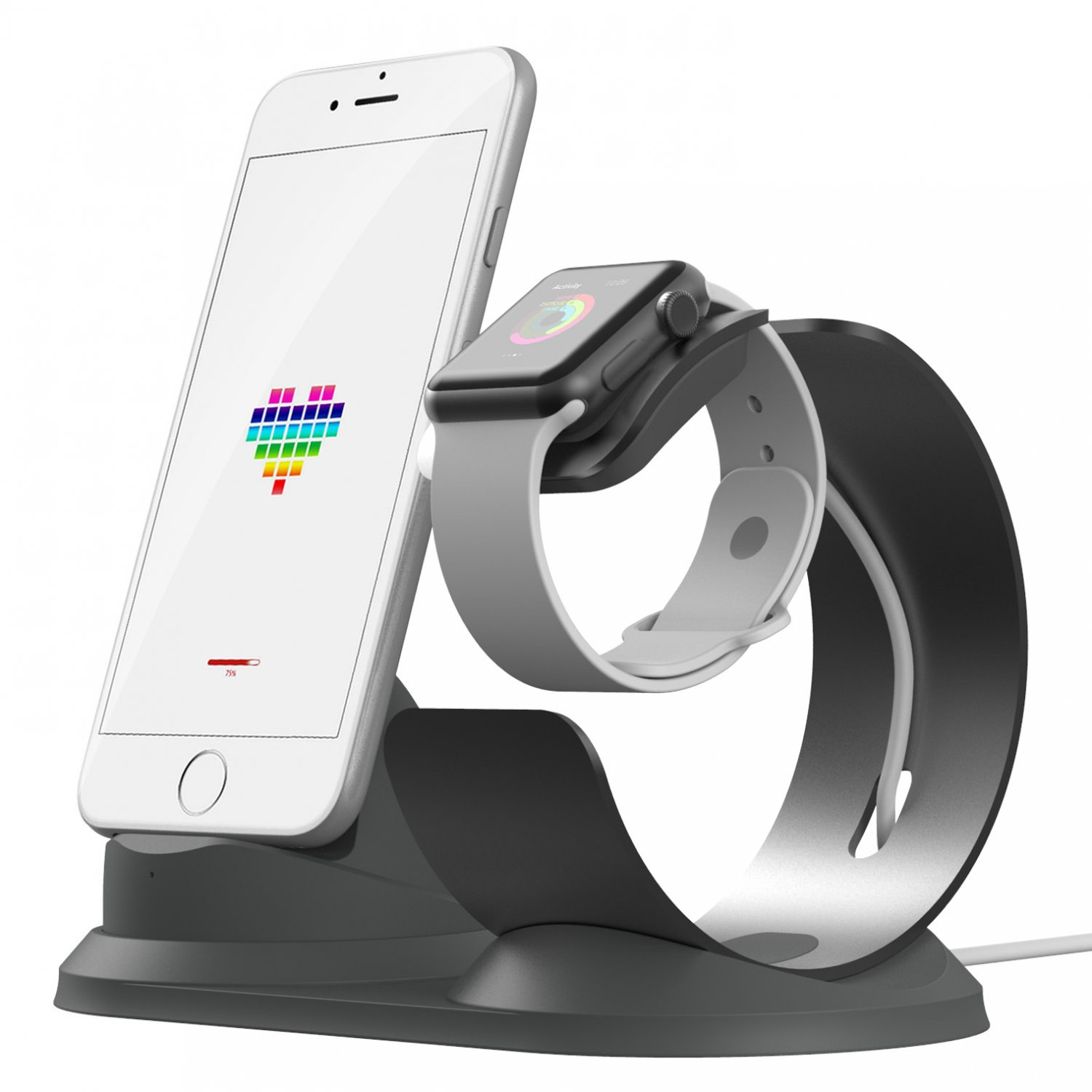 Two In One Aluminum Charging Stand