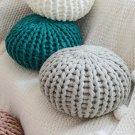 Handmade Thick Wool Woven Pillow, Creative Round Futon