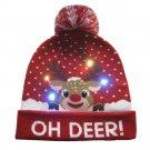 Snowman Elk Christmas Tree Flanged Ball Knit Cap