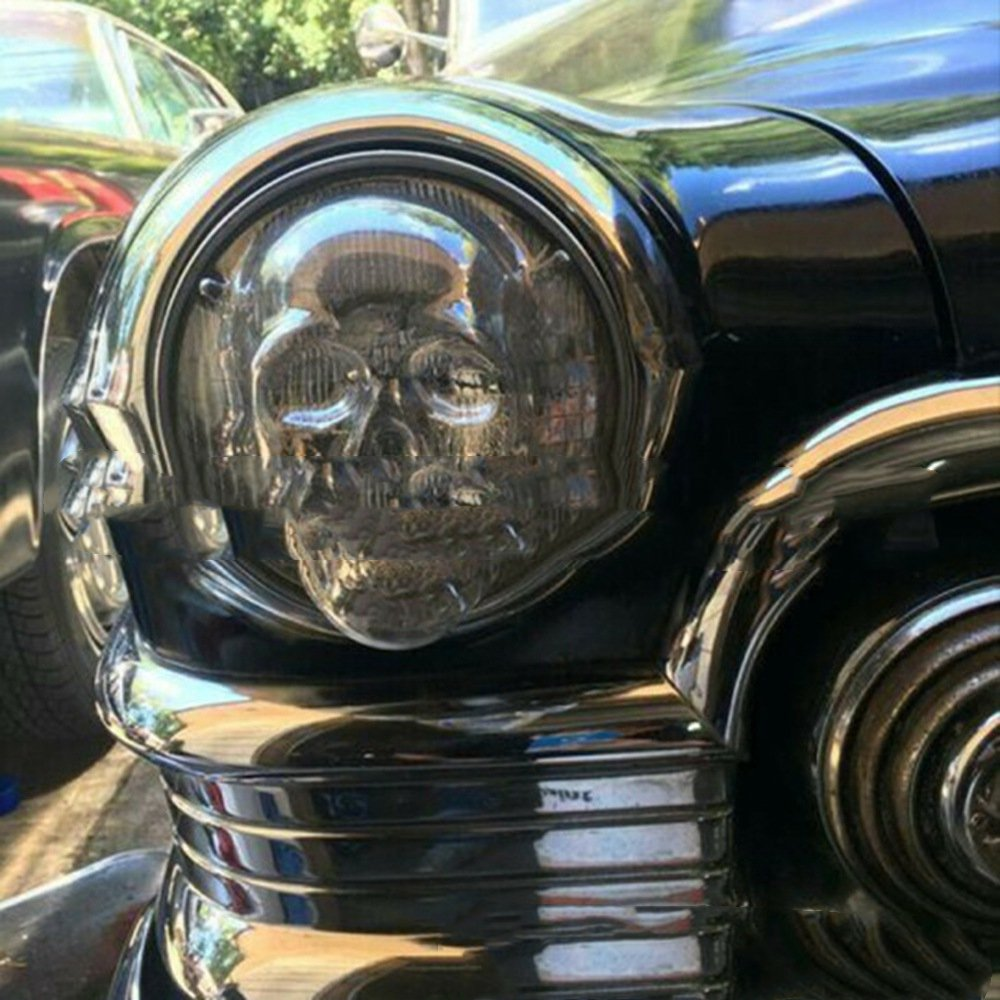 Skull Headlight Covers Decorative For Car Truck Motorcycle