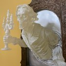 Ghost Resin Luminous Ornament Mirror In The Cross-border Mirror