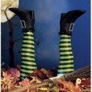 Halloween Creative Art Decoration Prosthesis Witch Leg Garden Decoration