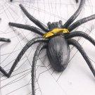 Halloween Decoration Black Spider Tied Card Spider 4PCS