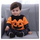 Children's Halloween Four-piece Bat Pumpkin Kids Clothes