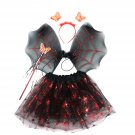 Halloween Red Spider Skirt Wings Net Gauze Skirt