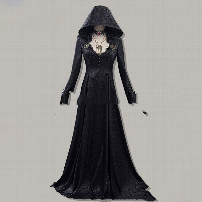 Evil Village Cosplay Costume Vampire Lady Dress Outfits Halloween