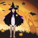 Halloween children witch cloak