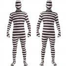 Halloween black and white prison uniform