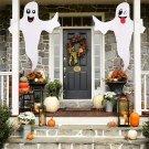 Halloween White Spooky Ghost Flag Scene Layout