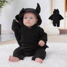 Baby Halloween Bat Hooded Onesies Little Devil Shaped Onesies