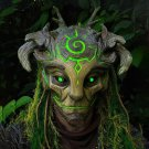 Halloween Glowing Mask Forest Elf Old Man Latex