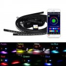Car Underglow Light LED Underbody Light Flexible Strip Remote APP Control